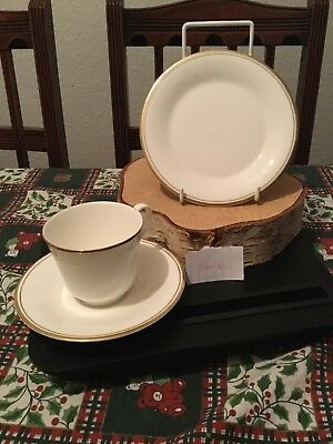 Royal Doulton Gold Concord H5049 Tea Cup, Saucer And Tea Plate Set Of 3