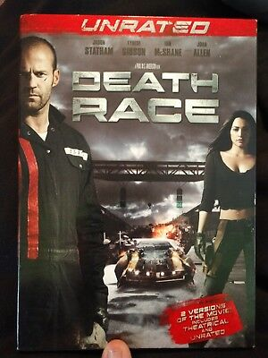Death Race DVD 2008 (Unrated Edition) with slipcover w/ Jason Statham
