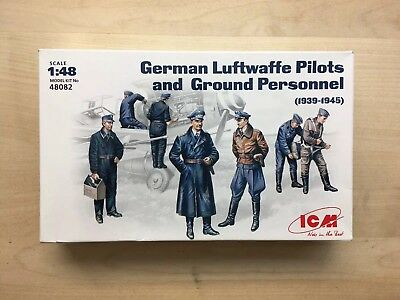 ICM 1:48 German Luftwaffe Pilots and Ground Personnel
