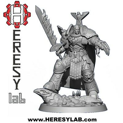 54mm Special Space Character Marine Leader - Warhammer 40k Proxy - Heresylab