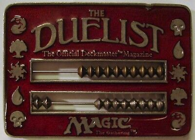 MTG - Previously Owned Red Duelist Abacus Life Counter - Solid Pewter!