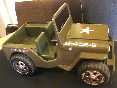 Tonka Army Jeep G-452-8, 1970s Pressed Steel Toy Truck Gas Turbine