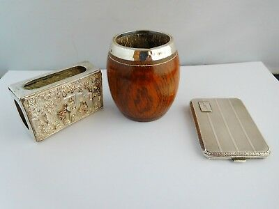 Nice Grouping Of Smoking Related Items, Including Solid Silver