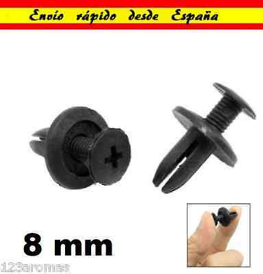 8mm Remaches Plastico Pasadores del Carenado de Coche Moto Grapas tapon remache