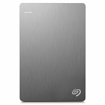 STDR1000201 Seagate Backup Plus Slim Portable Drive 1TB, Silver 7636490051579