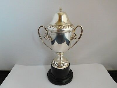 Superb And Rare English Sterling Silver Lidded Cup / Trophy - Unengraved
