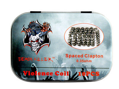 Demon Killer Violence Spaced Clapton Premium Coils 10x0.35 Ohm Fertigwicklungen