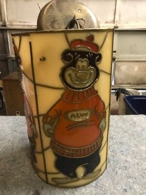 Working A&W Advertising Collectible Vintage Hanging Light Bear