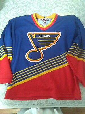 RARE! VINTAGE 80S CCM St. Louis Blues Hockey Jersey NHL Classic Fan ... 5e0547352