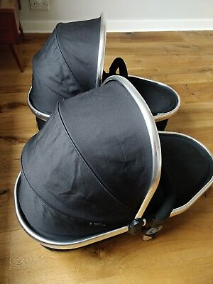 iCandy Peach 3 Twin Carrycots. Black Magic