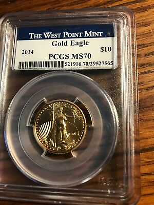 Perfect Gold Coin 1/4 ozt 2014 PCGS MS70