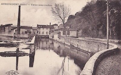 CPA - AUDINCOURT - Usine sous roches