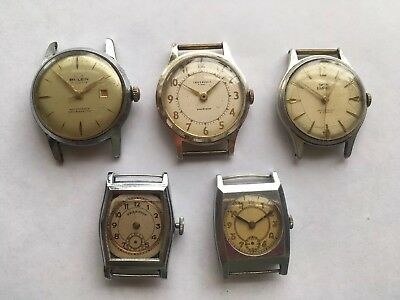 Vintage Art Deco Buler Smiths Swiss & English Mens Watches.. Spare Repair