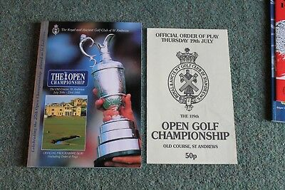 1995 Open Golf Championship programme 1990 order of play old course st andrews
