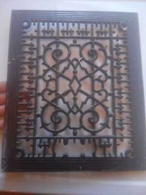 Antique  8×10 Heat Register Cast Iron Wall Floor Grate Heat Vent=