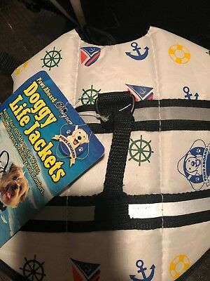 Life Jacket Paws Aboard Dog Vest Pet Safety Preserver Water Size Xsmall Pool