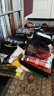 BLACK / DEATH / METAL T SHIRT HUGE LOT OF 82 SHIRTS!!! Bathory burzm slayer