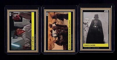 2018 Topps STAR WARS GALACTIC MOMENTS Countdown to Episode 9 Week 1 Set NEW HOPE
