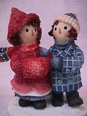 Raggedy Ann & Andy TO HAVE A FRIEND Ann & Andy WALKING Winter Sled Series NEW