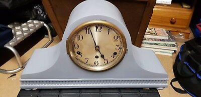 Vintage German Westminster Mantle Napoleon Hat Clock