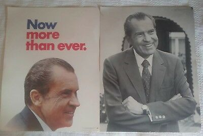 Richard Nixon 1972 Original Campaign Poster Now More Than Ever Election Plus 2nd