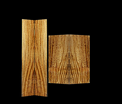 Hawaiian Mango & Koa Binding Psycho Curl 4 Pc. Guitar Set # A-3