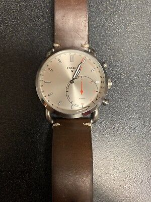 Fossil Q Commuter Hybrid Smartwatch Silver And Brown 36 00 Picclick
