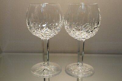 "Two (2) Waterford Lismore Balloon Wine Hock Glasses, 7 3/4"" high Perfect"