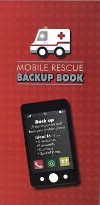 Ozcorp Mobile Rescue Backup Book 90 x 170mm Contact Book & Monthly Planner 51015