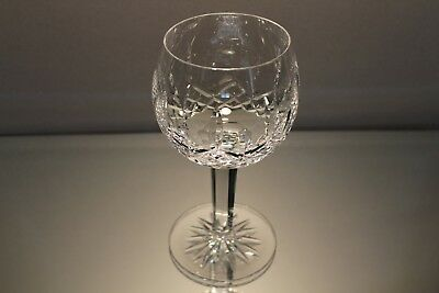 "One (1) Waterford Lismore Crystal Balloon Wine Hock Glass, 7 3/4"" high Perfect"