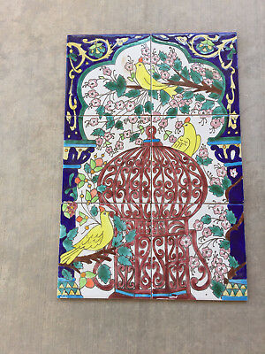 Colorful Vintage Art Pottery Tiles for Picture