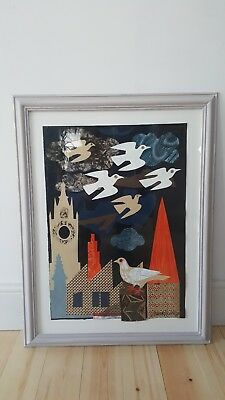Large Mark Hearld original mixed media collage