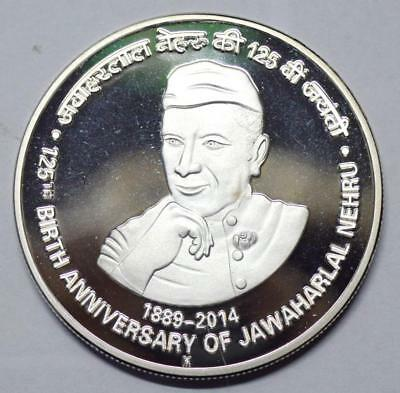 India 125 Rupees 2014 Jawaharlal Proof Coin