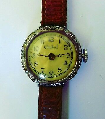 Antique Carbel Wristwatch Art Deco In Working Condition
