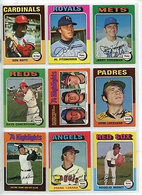 1975 75 Topps LOT YOU PICK SINGLES 10 cents -- COMPLETE YOUR SET!! Updated 1/10