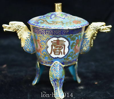 Collectable Chinese Cloisonne Carve Ancient Totem Flower Ancient Noble Wine Cups