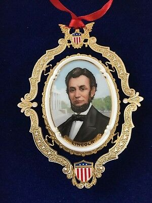 white house christmas ornament 2004  Presidents Collection Abraham Lincoln