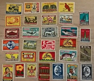 Indian Matchbox labels, mixed collection of 30 (I6)