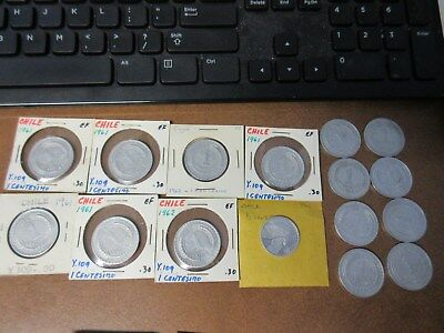 (16) Coin Lot  Chile 1 Ceneisimo & 1/2 Centesimo Lot #11