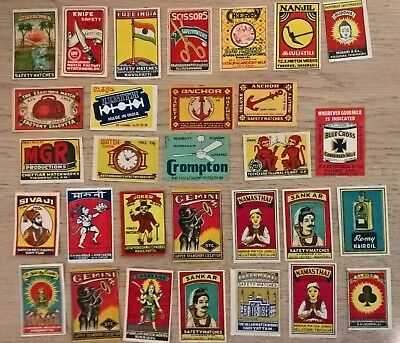 Indian Matchbox labels, mixed collection of 30 (I9)