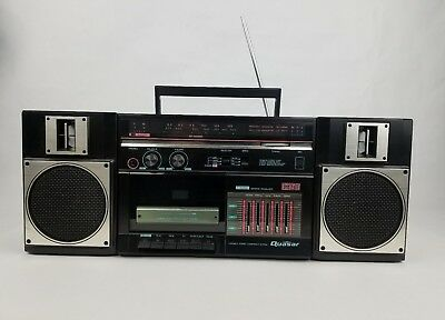 Vintage Quasar GX3616 AM/FM Cassette Player Recorder Boombox: 5 Band Equalizer