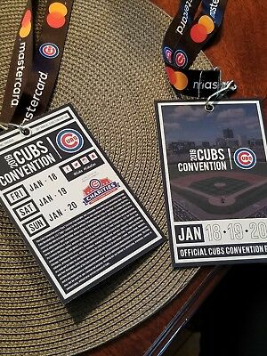 2019 Chicago Cubs Convention Passes (Jan 18-20) (2 Passes) -- Sold Out!!
