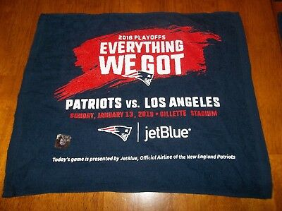 New England Patriots 2018 Playoffs Rally Towel vs. Los Angeles Everything We Got