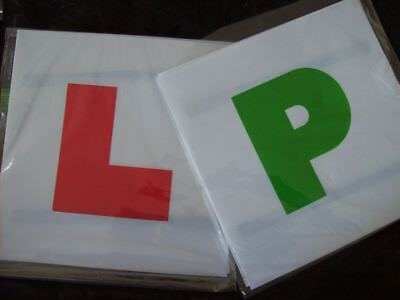 L Plates Learner Driver + New Driver Green P Plates Car Accessory x 4 Magnetic
