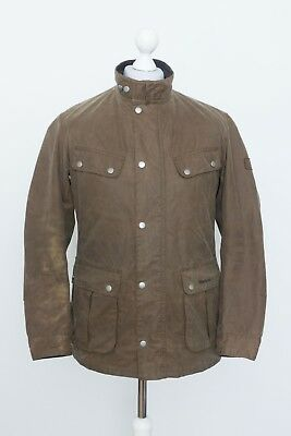 Barbour International Duke Wax Cotton Jacket Size Medium