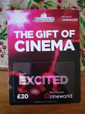 £20 Cineworld Gift Card Voucher