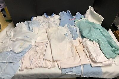 Vintage lot of baby/doll infant clothing clothes 14 pieces 1940s 1950s 1980s