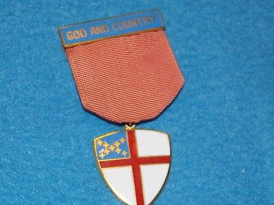 VINTAGE - Boy Scout Episcopal God and Country Religious Award Medal