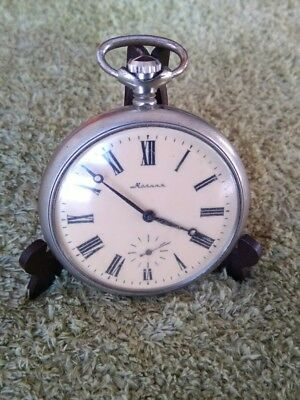 Molnija Pocket Watch Working Condition Tale Of Ural Leyend Case Caliber 3602