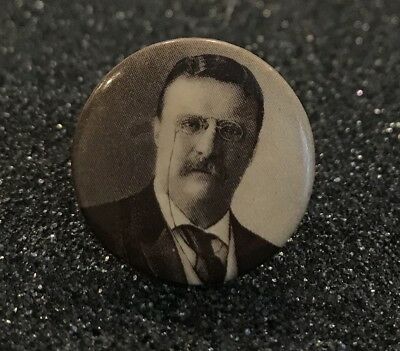 1904 Theodore Roosevelt for President TR campaign pin button - PERFECT